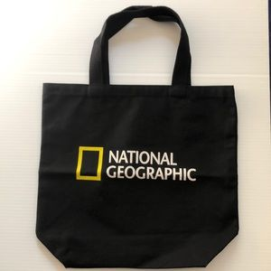 National Geographic black Tote Bag